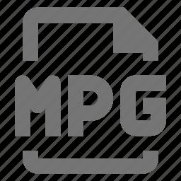 file, mpg, video icon