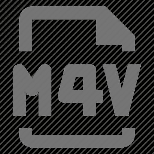 document, file, format, m4v, media, paper, sheet, video icon