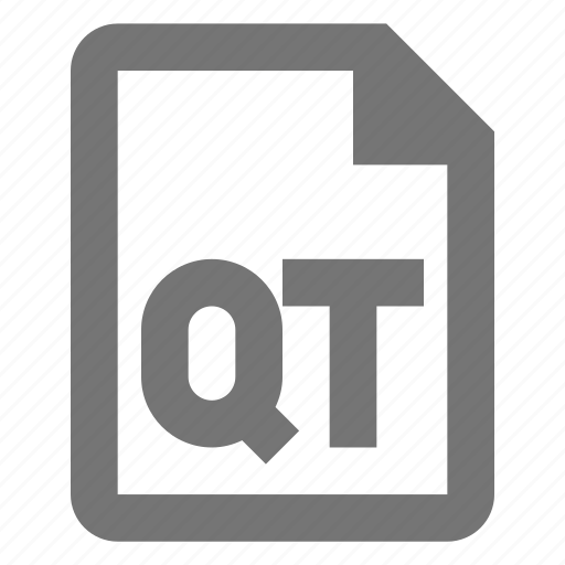 document, file, format, media, paper, qt, sheet, video icon