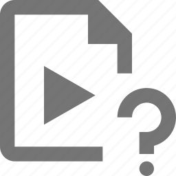 document, file, format, help, paper, question, sheet, video icon