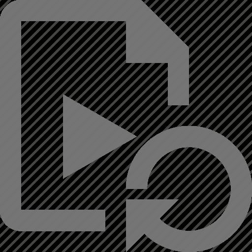 arrow, file, refresh, reload, sync, video icon