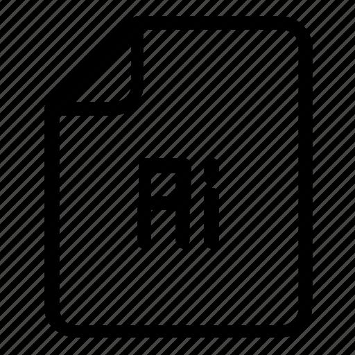 file, format, illustrator icon