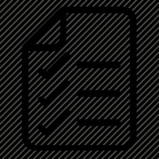 checklist, file, format icon