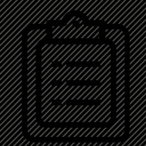 clipboard, file icon