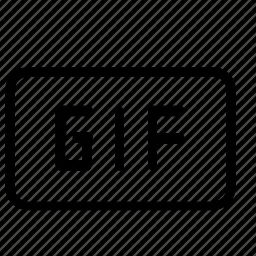file, format, gif, graphic icon