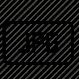 file, format, jpg, media icon