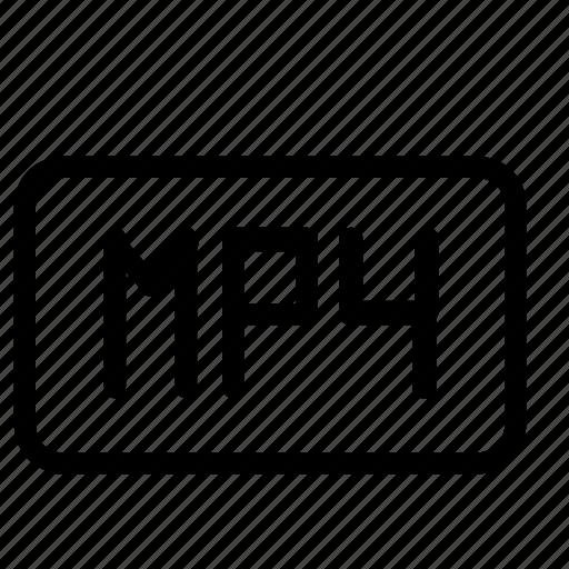 file, format, media, mp4 icon