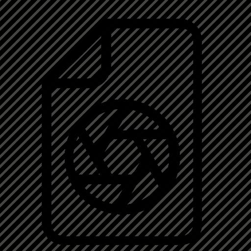 camera, file icon