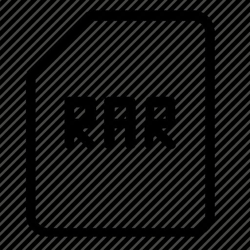 extension, rar icon