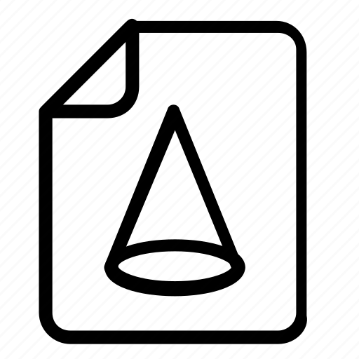 file, format, shapes icon