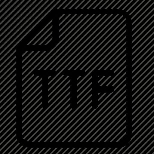 extension, truetype, ttf icon