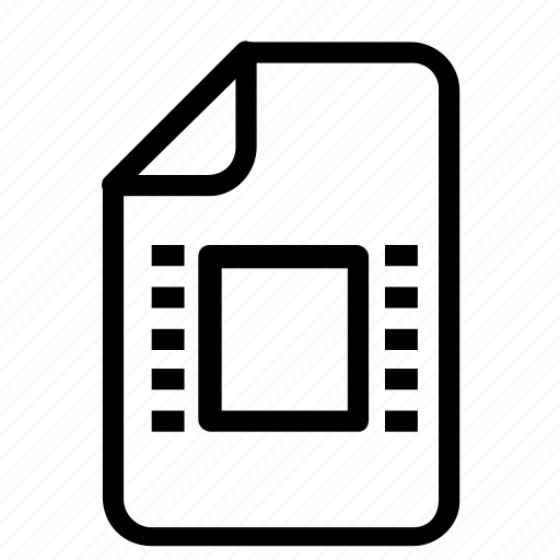 extension, multimedia, video icon