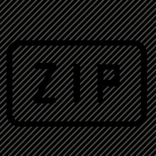 extension, zip icon