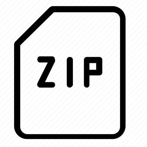 extension, zip icon