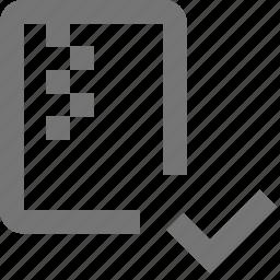 check, file, select, zipped icon