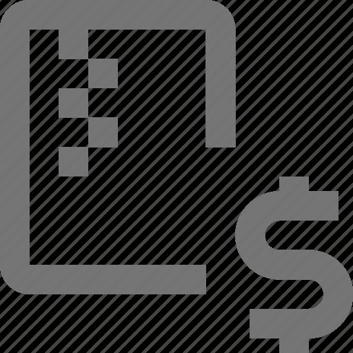 dollar, file, money, zipped icon