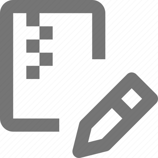 archive, document, edit, file, folder, format, pencil, zipped icon