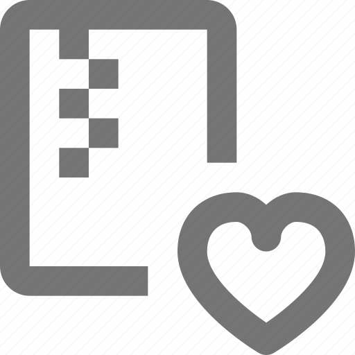 archive, document, favorite, file, folder, heart, like, zipped icon