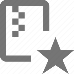 favorite, file, star, zipped icon