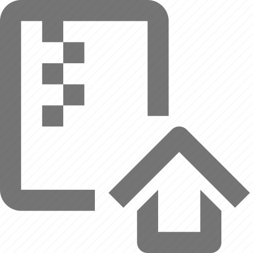 archive, document, file, folder, format, home, house, zipped icon