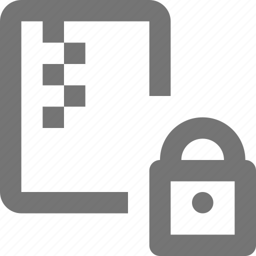 file, lock, security, zipped icon