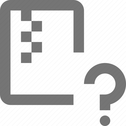 file, help, question, zipped icon