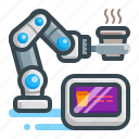 robotic, coffee, untact, arm