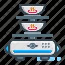 robotic, waiter, restaurant, untact