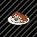 filipino food, food, fried pork, lechon, lechon kawali, meat, pork icon