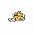 chicharon, dish, filipino cuisine, filipino food, food, pork icon