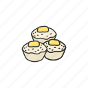 filipino food, food, puto, rice cake, snack, steamed food icon