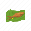 filipino cuisine, fish, food, fried fish, roast fish, tinapa icon