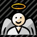 angel, saint, seraph, good, faith, halloween, mystery, wings