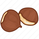chestnut, dry fruits, dry fruits icon, food, nut icon