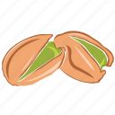 dry fruits, dry fruits icon, food, pistachio icon