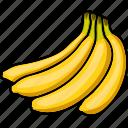 banana, banana chips, banana juice, food, fruits, fruits icon, healthy food icon