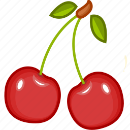 cherry, cherry juice, food, fruits, fruits icon, healthy food icon