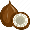coconut, coconut juice, food, fruits, fruits icon, healthy food icon