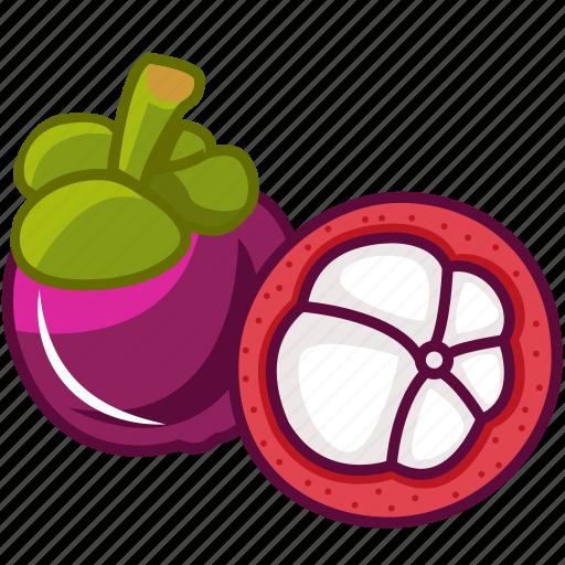 food, fruits, fruits icon, healthy food, mangosteen, mangosteen juice, purple mangosteen icon