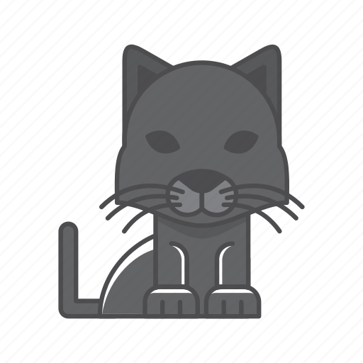 animals, black panther, branch, cat, conservation, cute, design, environment, filled, filled outline, flat, forest, front view, fur, hair, hairy, illustration, jungle, mammal, mustache, nature, outdoor, outline, panther, species, tree, tropical, vector, wild, wildlife, wood, zoo icon