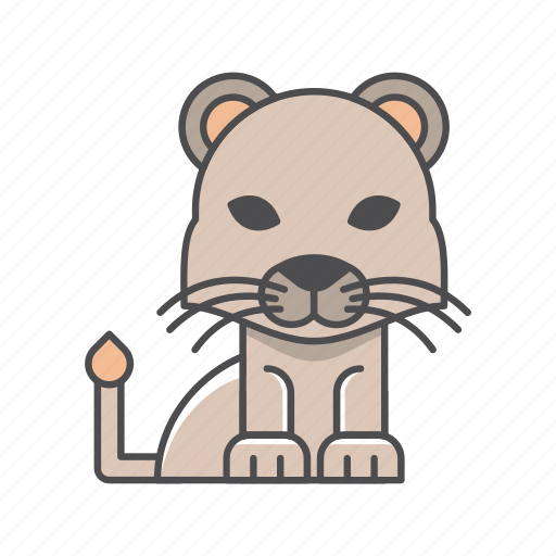 animals, branch, cat, conservation, cute, design, environment, filled, filled outline, flat, forest, front view, fur, hair, hairy, illustration, jungle, lion, mammal, mustache, nature, outdoor, outline, species, tree, tropical, vector, wild, wildlife, wood, zoo icon