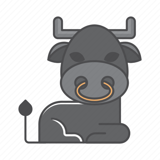 animals, branch, buffalo, conservation, cute, design, environment, filled, filled outline, flat, forest, front view, fur, hair, hairy, illustration, jungle, mammal, mustache, nature, outdoor, outline, species, tree, tropical, vector, wild, wildlife, wood, zoo icon