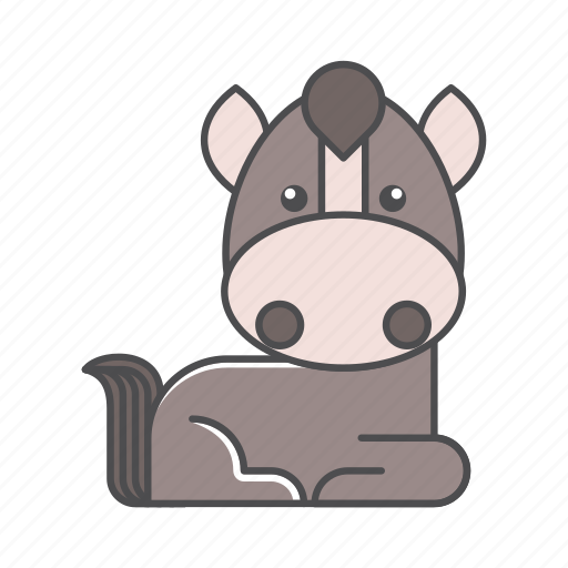 animals, branch, conservation, cute, design, environment, filled, filled outline, flat, forest, front view, fur, hair, hairy, horse, illustration, jungle, mammal, mustache, nature, outdoor, outline, species, tree, tropical, vector, wild, wildlife, wood, zoo icon