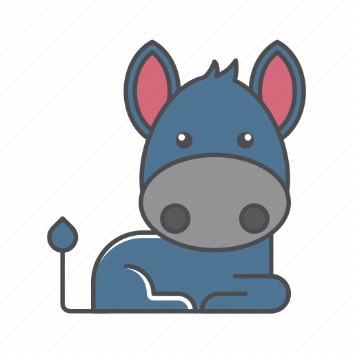 animals, branch, conservation, cute, design, donkey, environment, filled, filled outline, flat, forest, front view, fur, hair, hairy, illustration, jungle, mammal, mustache, nature, outdoor, outline, species, tree, tropical, vector, wild, wildlife, wood, zoo icon
