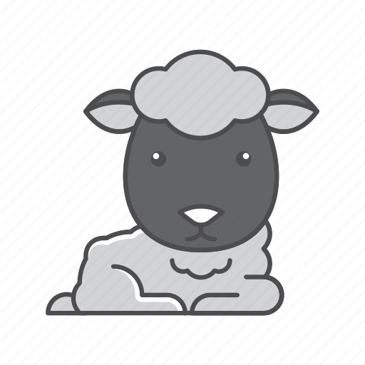 animals, branch, conservation, cute, design, environment, filled, filled outline, flat, forest, front view, fur, hair, hairy, illustration, jungle, mammal, mustache, nature, outdoor, outline, sheep, species, tree, tropical, vector, wild, wildlife, wood, zoo icon