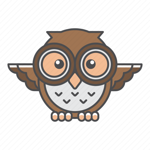 animal, avian, beauty, birds, blue, color, colorful, conservation, cute, design, environment, feather, filled, filled outline, flat, forest, front view, green, illustration, jungle, nature, outdoor, outline, owl, park, species, tail, tropical, vector, wild, wildlife, zoo icon