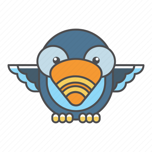 animal, avian, beauty, birds, blue, color, colorful, conservation, cute, design, dodo, environment, feather, filled, filled outline, flat, forest, front view, green, illustration, jungle, nature, outdoor, outline, park, species, tail, tropical, vector, wild, wildlife, zoo icon