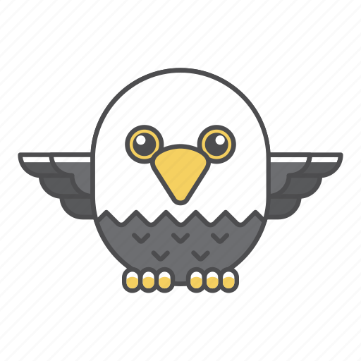 animal, avian, beauty, birds, blue, color, colorful, conservation, cute, design, eagle, environment, falcon, feather, filled, filled outline, flat, forest, front view, green, hawk, illustration, jungle, nature, outdoor, outline, park, species, tail, tropical, vector, wild, wildlife, zoo icon