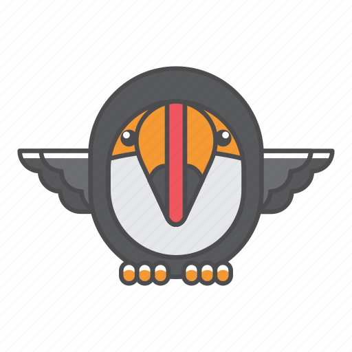 animal, avian, beauty, birds, blue, color, colorful, conservation, cute, design, environment, feather, filled, filled outline, flat, forest, front view, green, illustration, jungle, nature, outdoor, outline, park, species, tail, toucan, tropical, vector, wild, wildlife, zoo icon