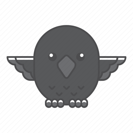 animal, avian, beauty, birds, blue, color, colorful, conservation, crow, cute, design, environment, feather, filled, filled outline, flat, forest, front view, green, illustration, jungle, nature, outdoor, outline, park, species, tail, tropical, vector, wild, wildlife, zoo icon